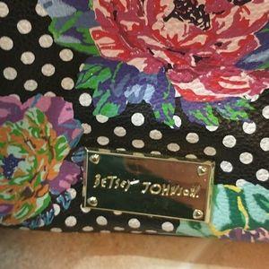 Betsey Johnson Bags - BETSEY JOHNSON Purse Bag Floral Polka Dot Black